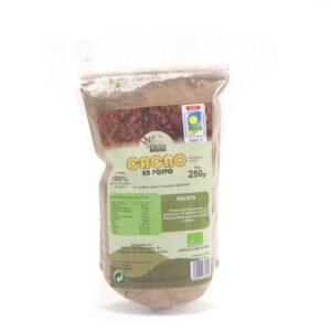 Cacao ecológico en polvo bolsa de 250 gramos