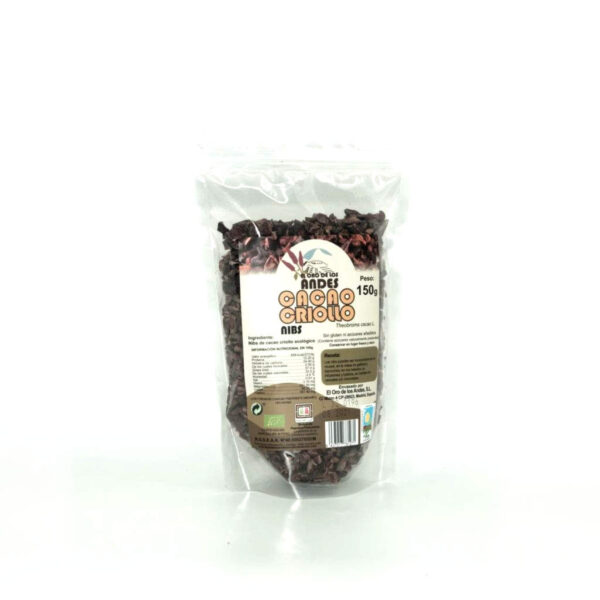 Cacao ecológico en Nibs en bolsa de 150 gramos