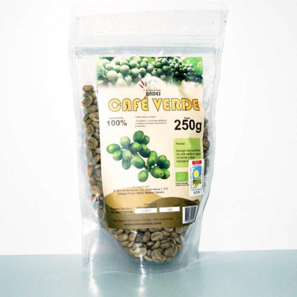 Café verde ecológico El Oro de los Andes