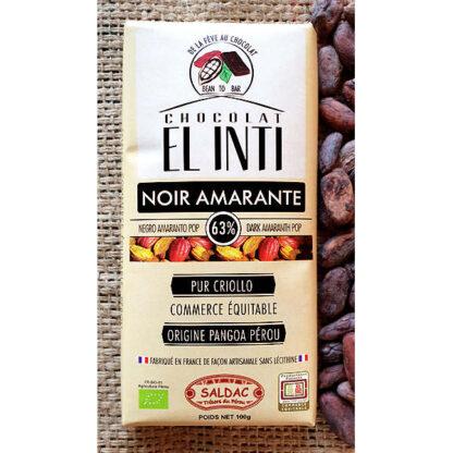 Chocolate Amaranto con amaranto