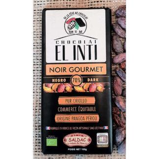 Chocolate ecológico 70% de cacao