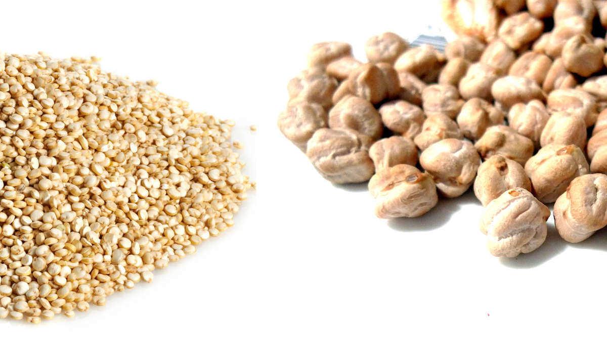 Receta de tempeh de garbanzos rebozado con quinoa