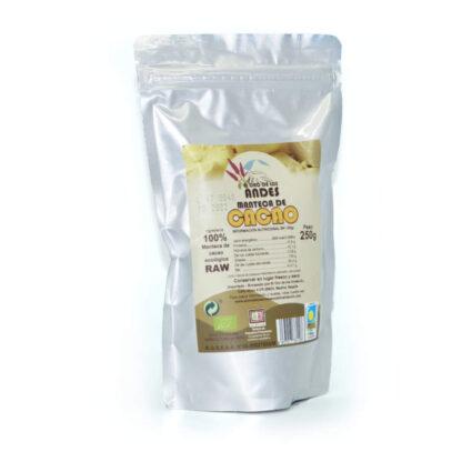 Manteca de cacao ecológica, bolsa de 250 gramos