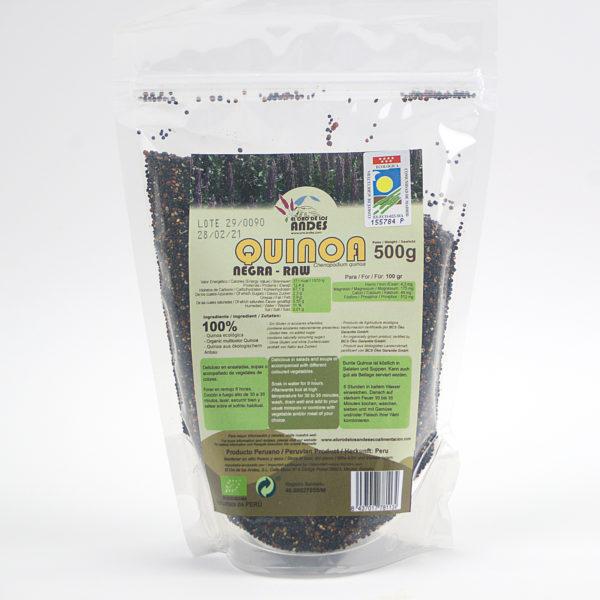 Bolsa de quinoa negra ecológica de 500 gramos