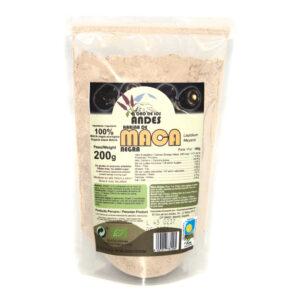Harina de maca negra ecológica en bolsas de 200 gramos