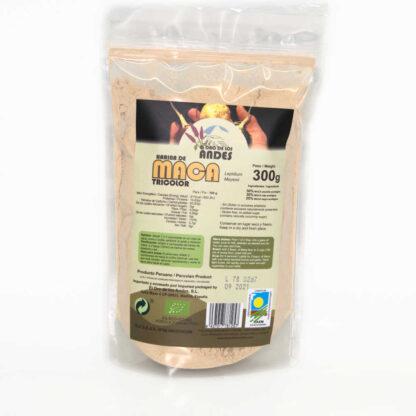 Harina de maca tricolor ecológica bolsa de 300 gr