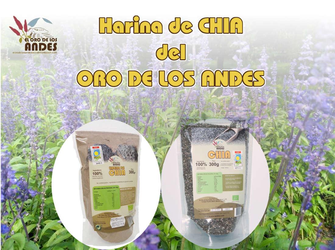Harina de chia de el Oro de los Andes