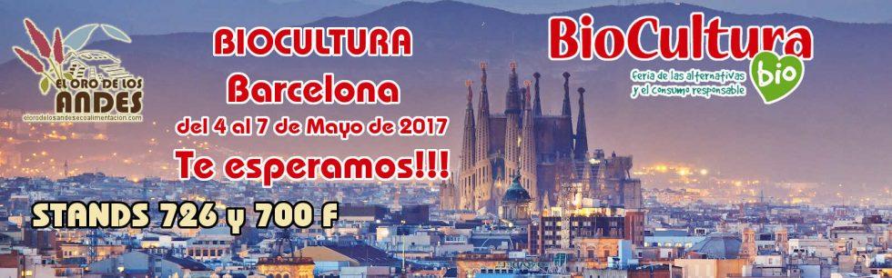 El Oro de los Andes estará en la Feria Biocultura de Barcelona