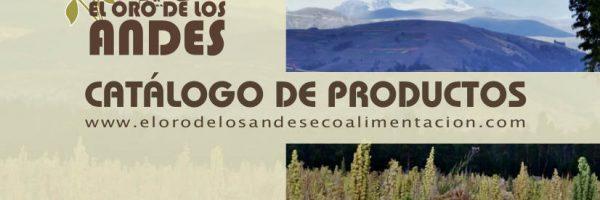 Nuevo catálogo de El Oro de los Andes en PDF