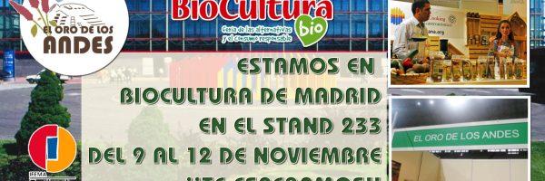 Estaremos en Biocultura de Madrid 2017