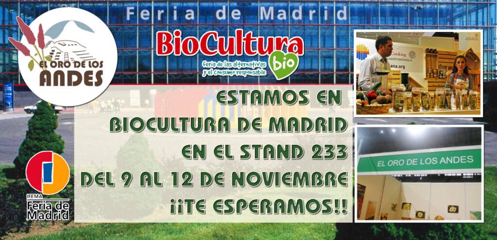 El oro de los andes en biocultura madrid 2017