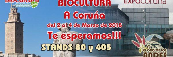Nos vemos en Biocultura a Coruña 2018