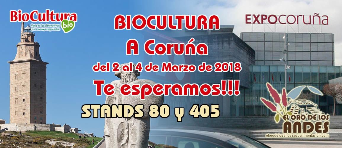 Feria Biocultura a Coruña del 2 al 4 de marzo de 2018