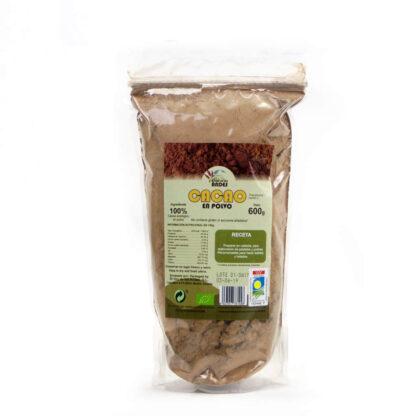 Cacao ecológico en polvo bolsa de 600 gramos
