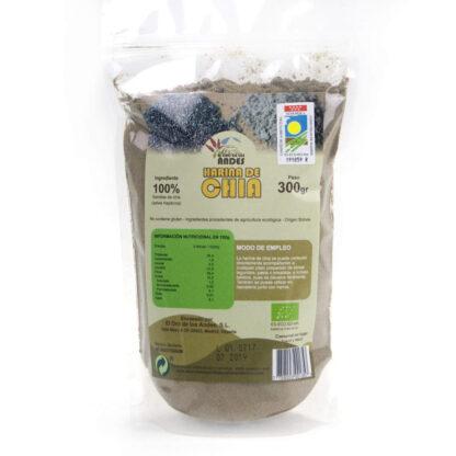 Bolsa de Harina de chía ecológica de 300 gramos