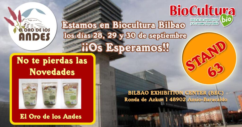 Biocultura Bilbao el oro de los andes