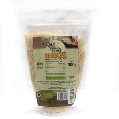Arroz blanco 500 g (largo de los Andes)