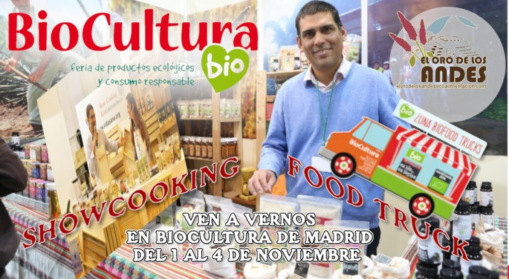 Biocultura Madrid 2018 showcooking - food truck