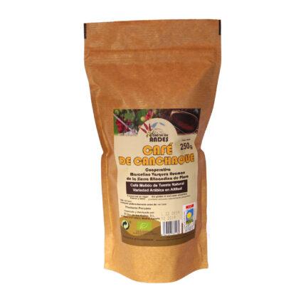 Café molido de tueste natural 250 g Café de Canchaque (El Oro de los Andes)