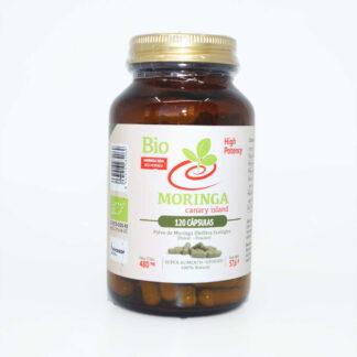 Moringa Oleífera 120 cápsulas (480 mg); Polvo de Moringa Oleífera Ecológico