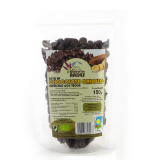 Gotas de cacao criollo con yacón