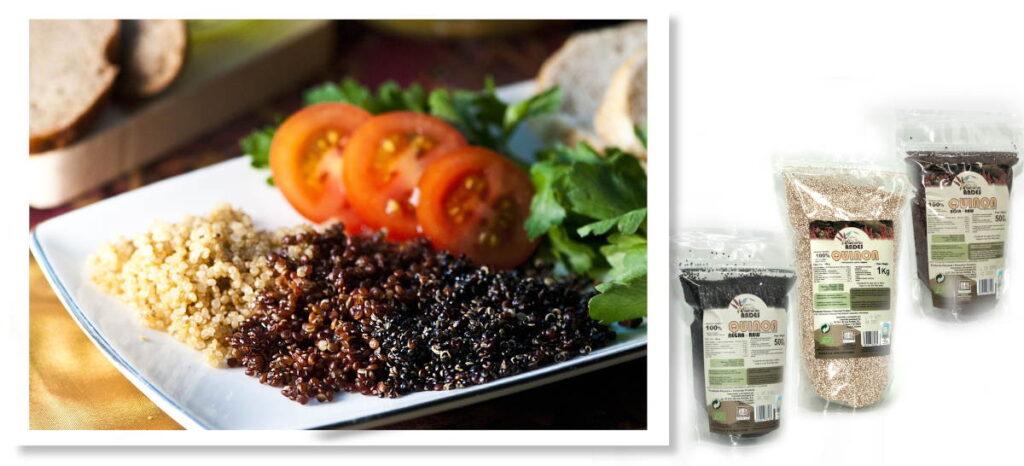 Quinoa blanca, roja y negra ecológica de origen andino