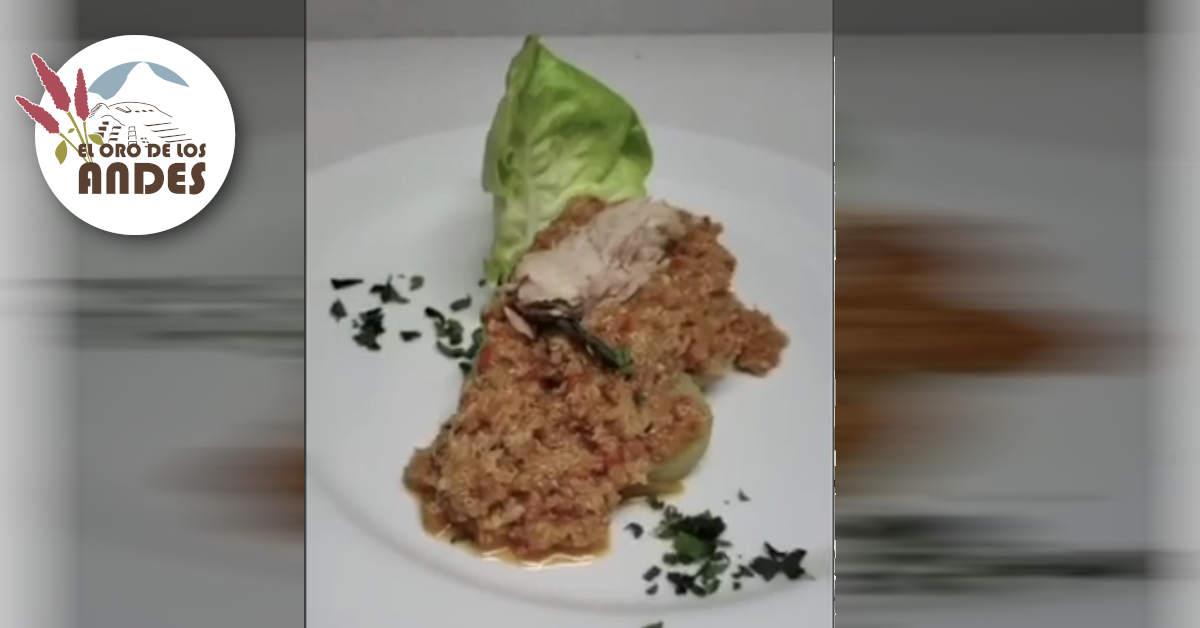 Ají de pimientos con quinoa y atun