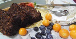 Receta de tarta de quinoa y acacao