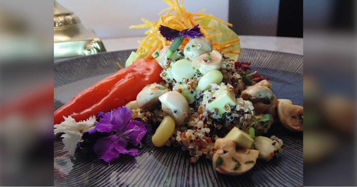 Receta de ceviche de cahmpiñones y quinoa