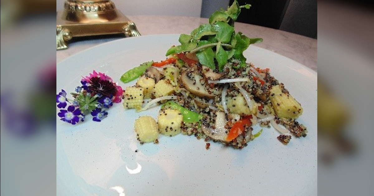 Receta de salteado de verduras con quinoa