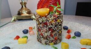 Receta de taboule de frutas y quinoa