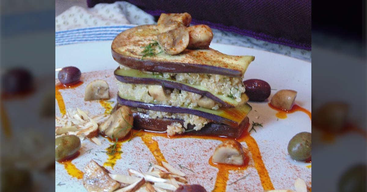 Receta de Quinoa con Champiñones