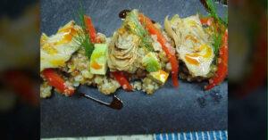 Receta de ensalada tibia de lentejas con quinua