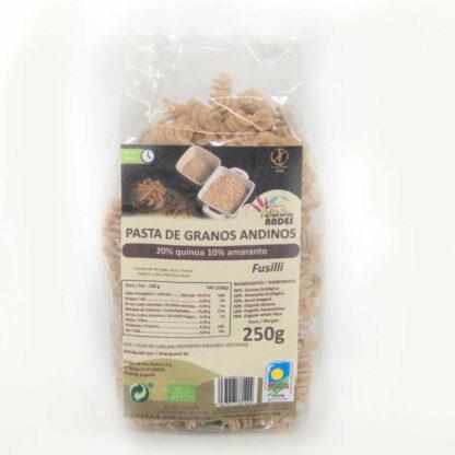 Pasta de granos andinos con arroz integral, quinoa y amaranto
