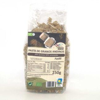 Pasta andina sin gluten el oro de los andes fusilli con harina de arroz integral, amaranto y quinoa