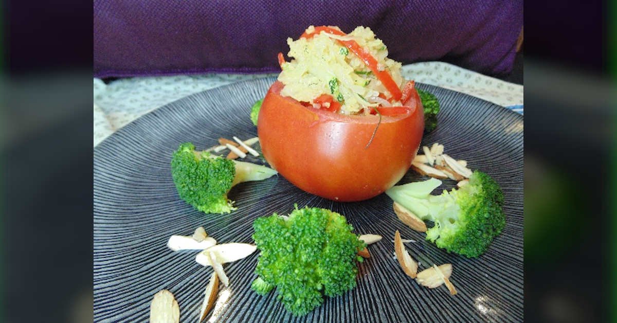 Receta de tomates rellenos con Quinua