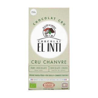 Chocolate crudo al 75% con semillas de cáñamo
