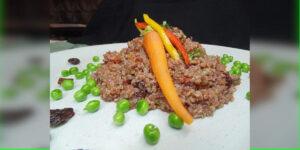Receta quinoa en crema de aceitunas negras