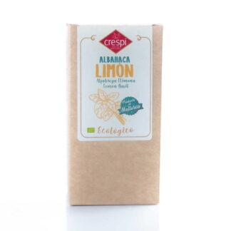 Albahaca limón 15 g ecológica con origen: Mallorca . Hojas seleccionadas enteras secadas a temperatura inferior a 45ºC.Tiene un agradable aroma cítrico.
