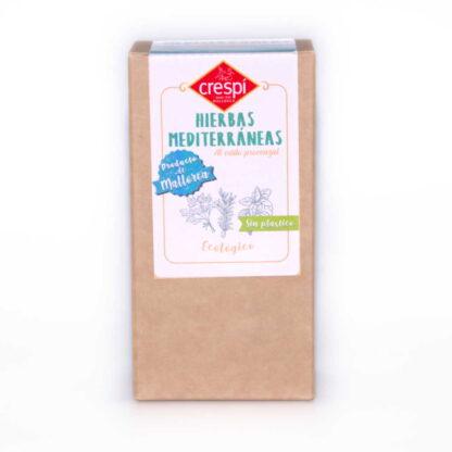 Hierbas mediterraneas 15 g (romero, ajedrea, mejorana, tomillo y albahaca) Hierbas Mediterráneas ecológicas con origen: Mallorca- España.
